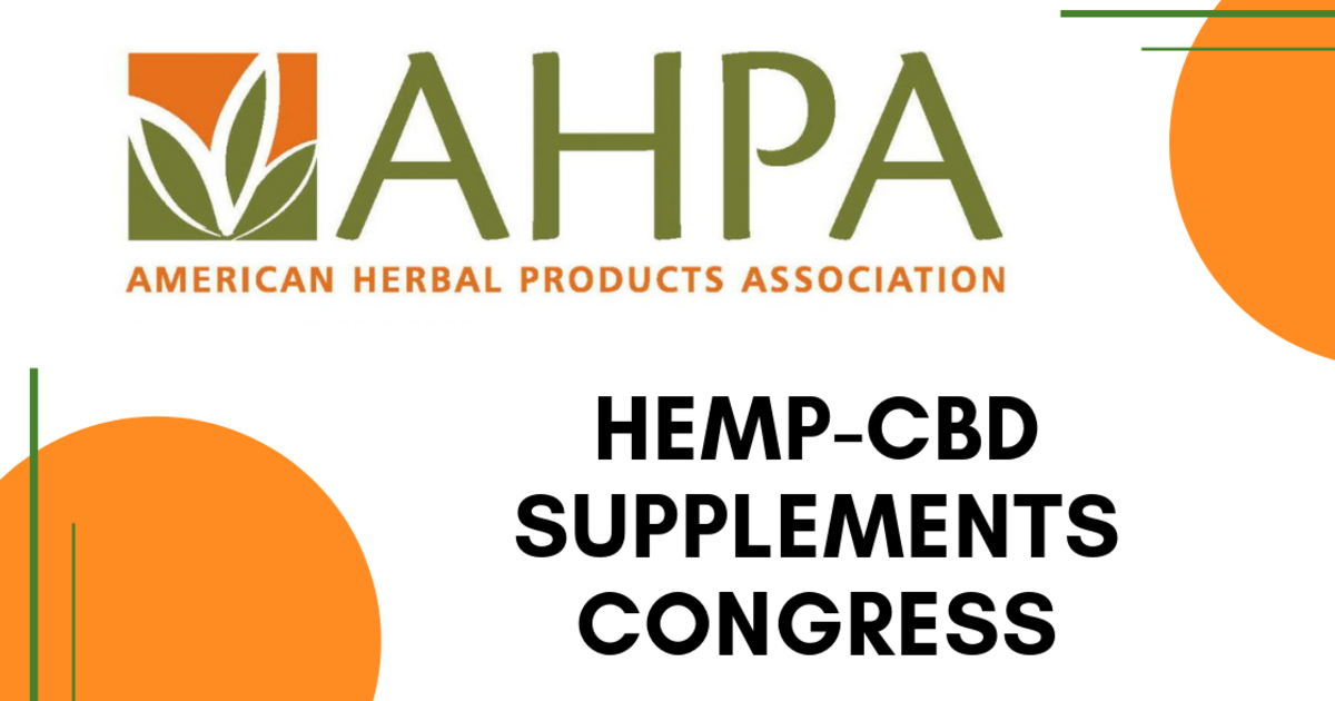 Image result for ahpa hemp-cbd supplement congress