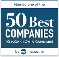 Named one of the 50 Best Companies to Work for in Cannabis
